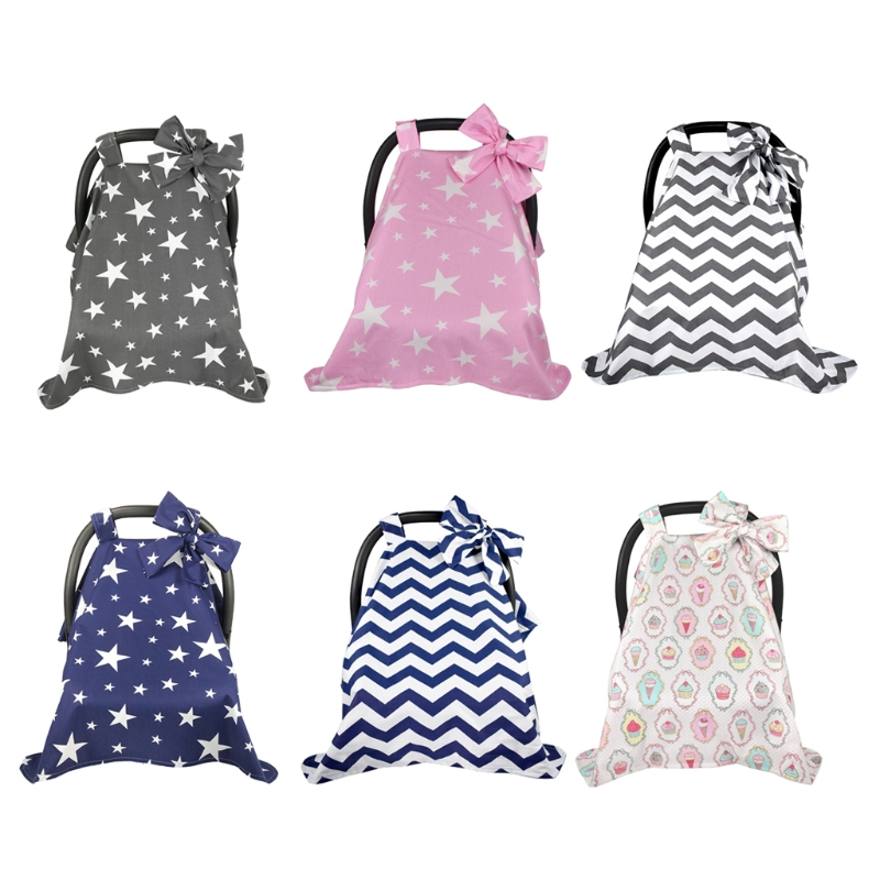 Car Seat Stroller Combo | Cotton Baby Car Seat Canopy Cover Infant Children Stripes Stars Carseat Covers