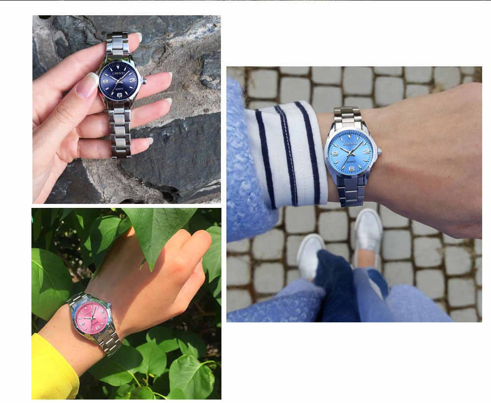 2018 CHENXI marka mody zegarki kobiety luksusowe zegarki na rękę ze stali nierdzewnej analogowy zegarek kwarcowy zegarek kobiet relógio Feminino