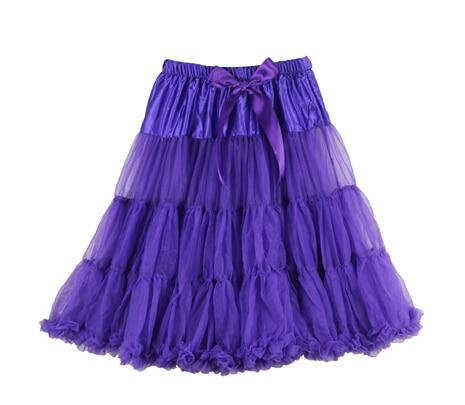 Евро ЗО, проверка, Нижняя юбка для женщин, шифоновая юбка-американка, юбка-пачка для взрослых, бальное платье, для танцев, летняя, 65 см, длинная юбка, сексуальная, однослойная - Цвет: purple