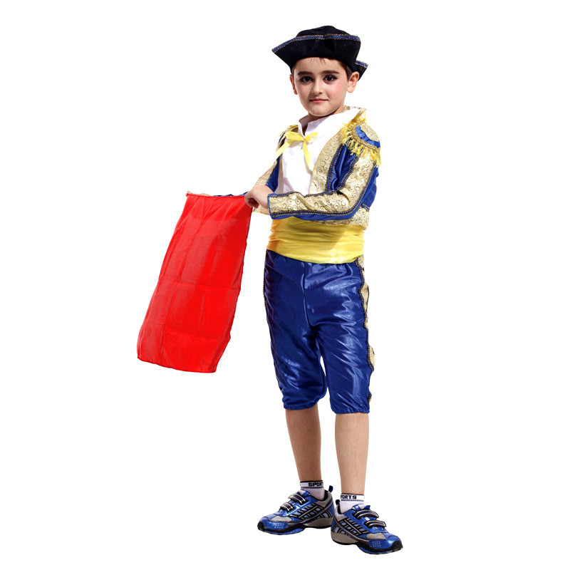 Running Matador Children Spanish Bullfighter Festival Halloween Boy Cosplay Costume Matador Costumes for Kids