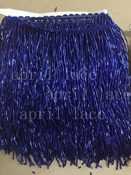 yy055 # 5 yards /bag 15 cm width  royal blue beads ribbon fringe tassel for wedding dress /garment/decorative /dress decoration