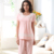 Pijamas de Algodón De verano de Encaje de Cuello Redondo Mujeres Pijama Establece Polka Dot Sueño Salón Pijamas de Manga Corta camisa de Dormir Homewear Informal