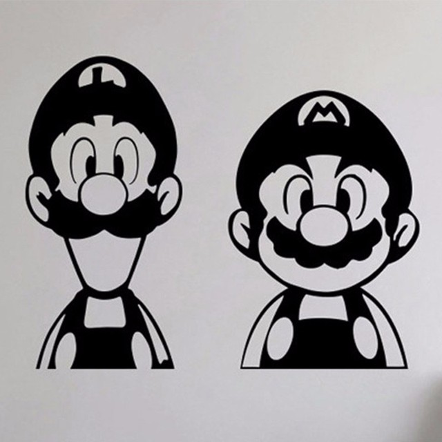 8c016ec9f4 Super Mario and Luigi wall sticker