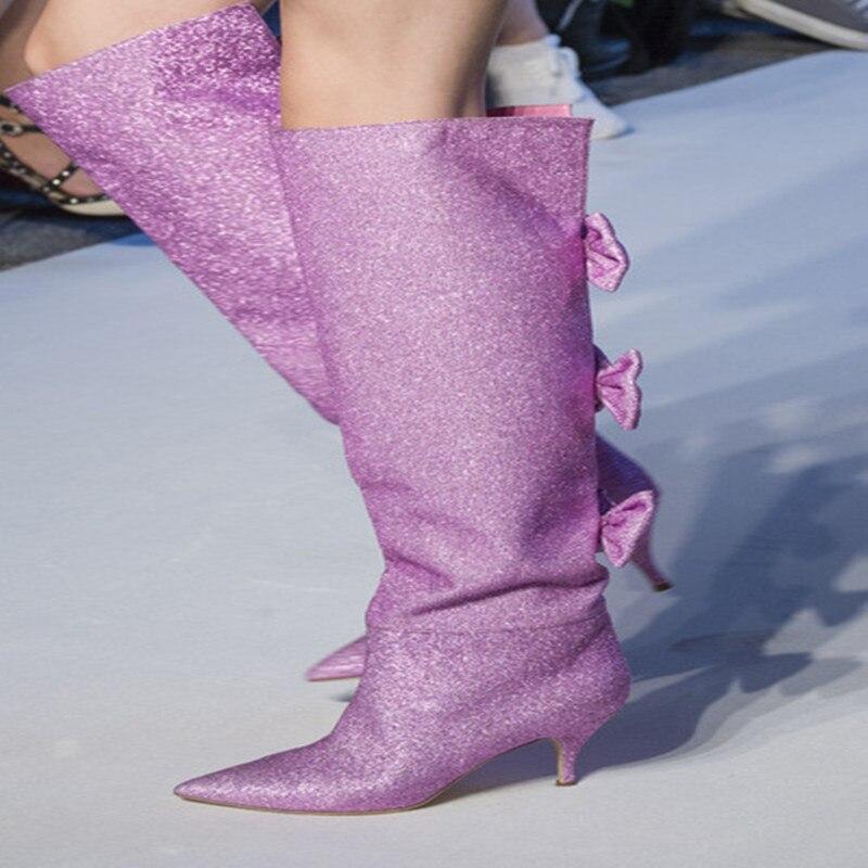 2018 di modo Europeo di nuova delle donne di senso della larghezza-boot stivali arco a punta della signora di grandi dimensioni stivali da donna scarpe da ballo