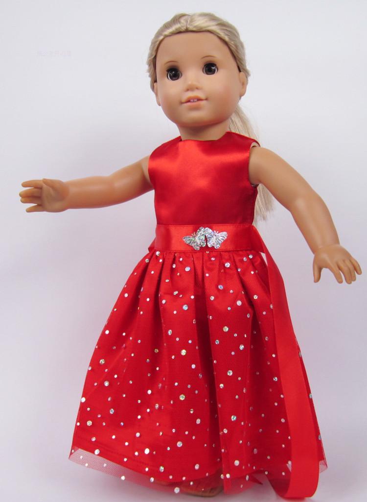 """Cadeau De Noël Xas 18 Pouces Robe De Poupée Américaine Convient Aux Poupées Américaines 18 """"b1 Peut êTre à Plusieurs Reprises Replié."""