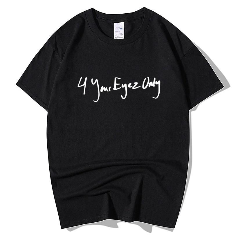 T-shirts J Cole 4 Your Eyez Only T-shirt Men Women Fashion Hip Hop Short Sleeve O Neck Cotton Loose Plus Size T Shirts Summer Tops Tee Men's Clothing