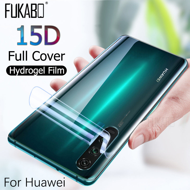 15D Full Cover Hydrogel Film For Huawei P20 P30 Mate 20 Pro P Smart 2019 Back Screen Protector For Huawei Mate 20 Lite Not Glass
