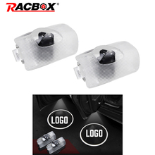 Racbox A pair Led Car Door Welcome Lamp Courtesy Shadow Light Backlight Projector Ghost Logo For Toyota Corolla Sequoia