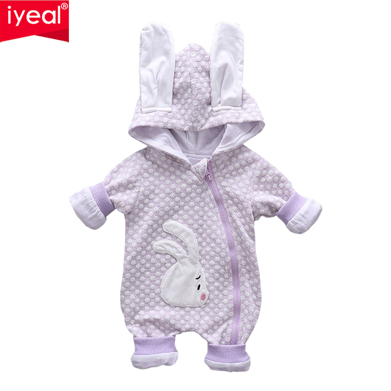 IYEAL Baby Clothing Newborns Body Suit Kids Clothes Boy Girl Jumpsuit Toddler Hooded Rabbit Romper Cotton Infant Overalls newborn baby romper kid jumpsuit hooded infant outfit clothes long animal modelling baby rompers overalls of toddler body suit