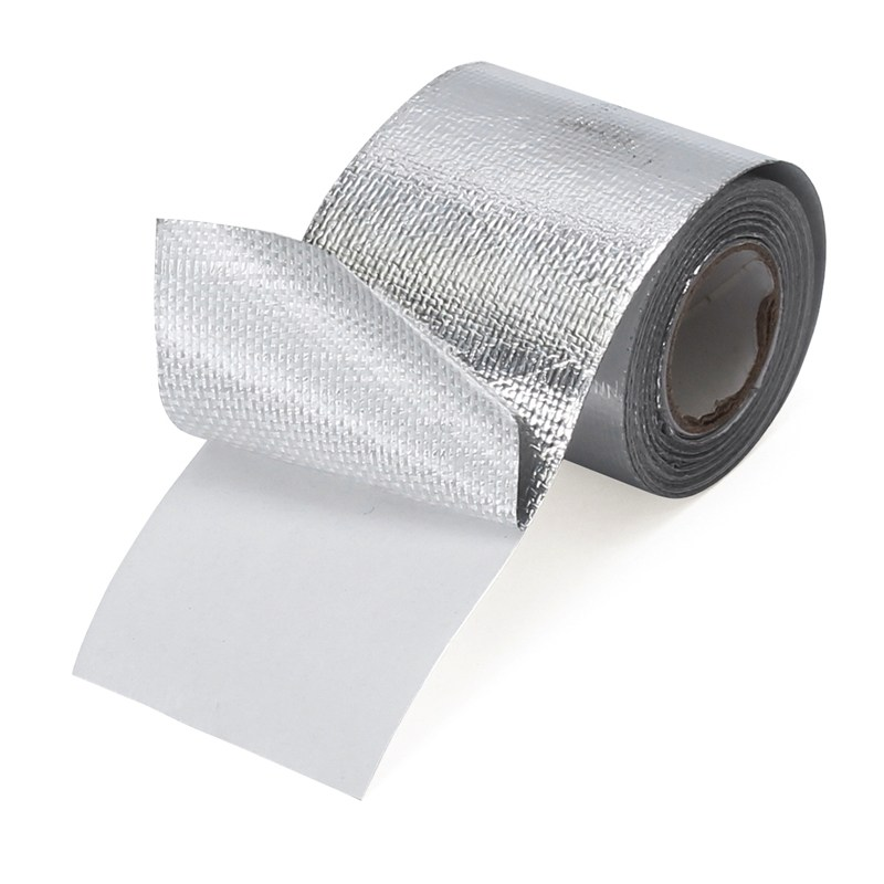 NEW 2 Inch Self Adhesive Thermo Shield Reflective Heat Shield Heatshield Warning Tape Wrapping Flame Retardant trianglelab cable casing black spiral wrapping reprap flame retardant 10mm diameter cable sleeves winding pipe wrapping band