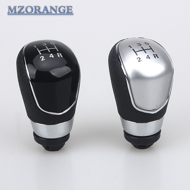 MZORANGE 5 Speed Manual Gear Shift Knob With Leather Boot For Ford Focus 2 2005 2006 2007 2008 2009 2010 2011 C-Max Kuga Fiesta