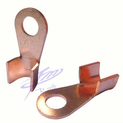 10pcs/lot OT 50A 6.2mm Dia Red Copper Circular Splice