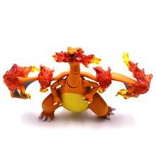 Figura de acción movible Charizard modelo 13 cm muñecos de dragón articulados figuras de Anime niños juguetes cumpleaños regalos de navidad
