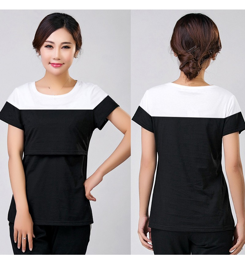 2016 lato macierzyństwo pielęgniarstwa ubrania kobiet w ciąży karmienie piersią karmienie piersią nakrywa trójniki t-shirt maxi premama nosić clothing 9