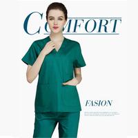 green surgical gown 100% cotton hospital White medical clothing surgical scrubs women laboratory clothes dentist surgical suit