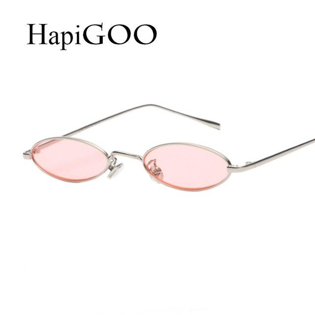 41d4bc6ccd HapiGOO 2018 New Brand Designer Vintage Oval Sunglasses Women Men Retro  Clear Lens Eyewear UV400 Sun Glasses For Female