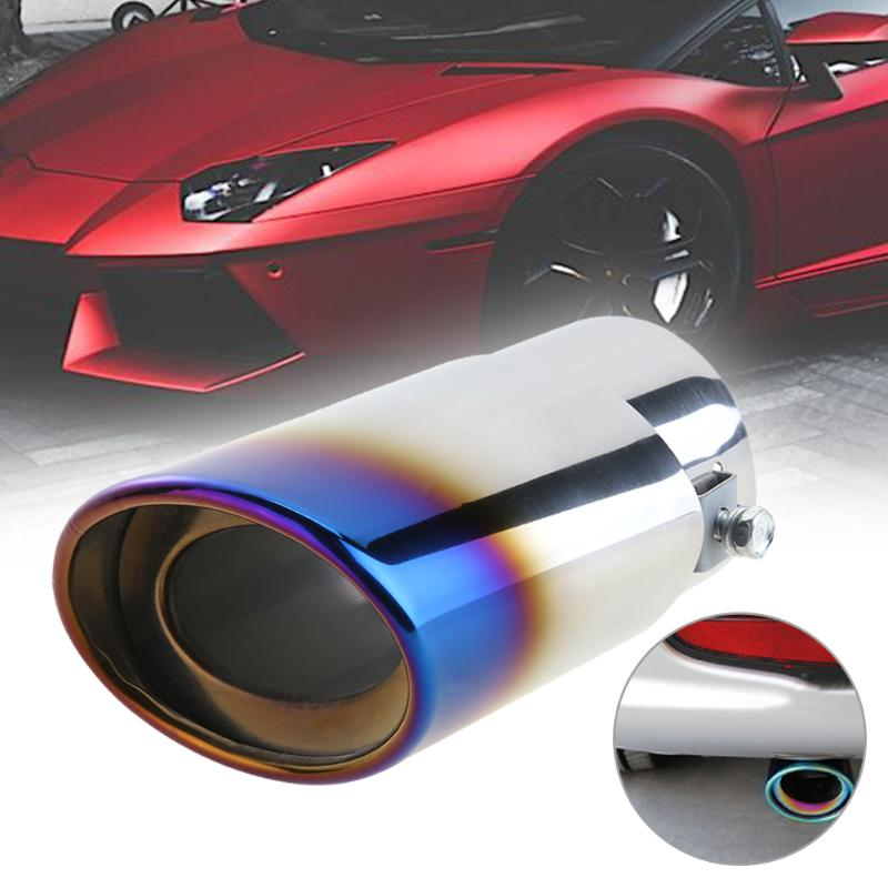 Pipe-Tip Muffler Exhaust-Pipe Stainless-Steel Universal Tail Rear Car-Suv Round