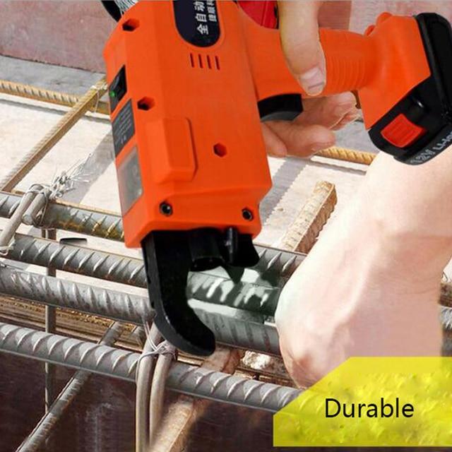 Rebar Tier Binding Machine 12V 3000mAh Automatic Rebar Tying Machine Cordless Wire Lithium Battery 3