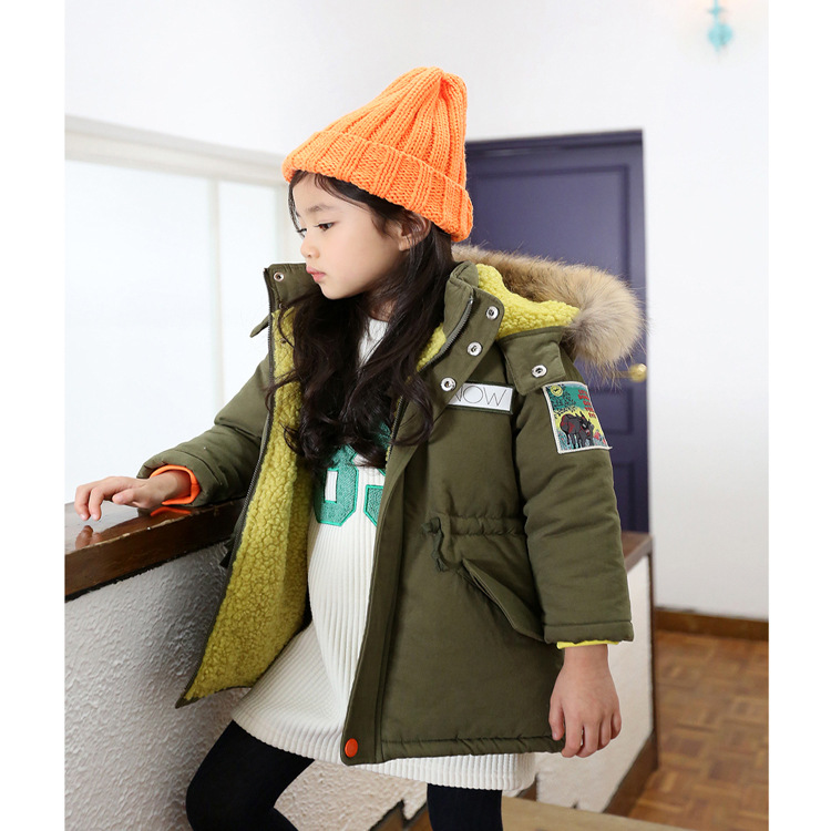 ФОТО 2016 new style cotton cuhk children's winter jacket children cotton-padded jacket coat of the girls