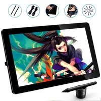 PNBOO PN1560 15.6 Inches IPS Screen HD Resolution Graphics Monitor Drawing Display with 2 Stylues Pens and Artist Glove for free