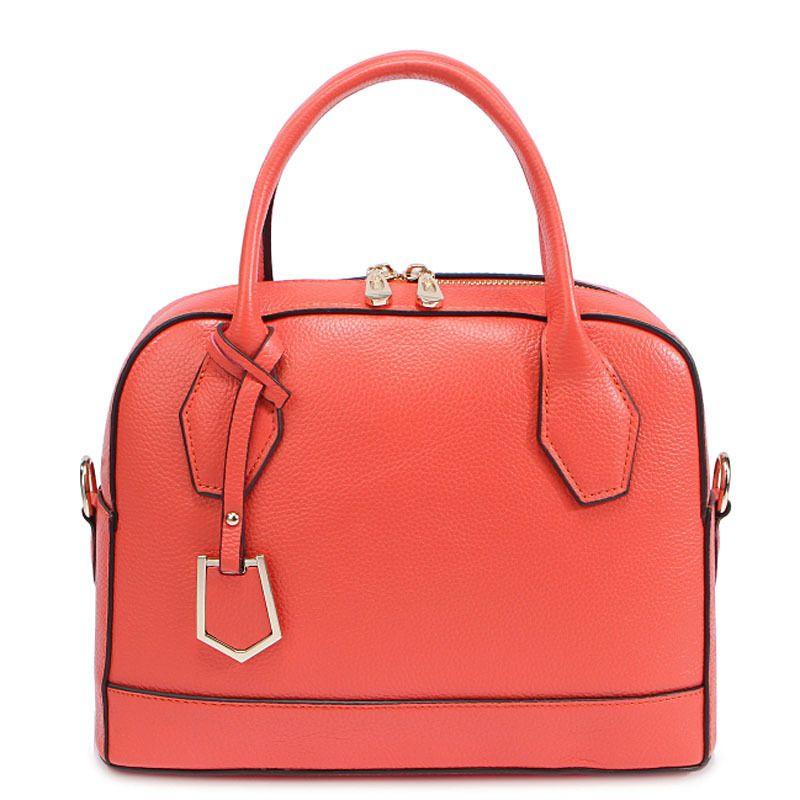 LOEIL The first layer cowhide female bag 2018 summer new shell bag casual leather handbag fashion Messenger bag