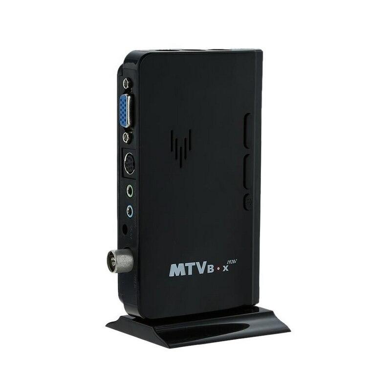 Mayitr 1 Set Black External LCD VGA TV PC Tuner Box DC 5V 1A TV Analog Program Receiver HDTV 1920x1200 EU Plug