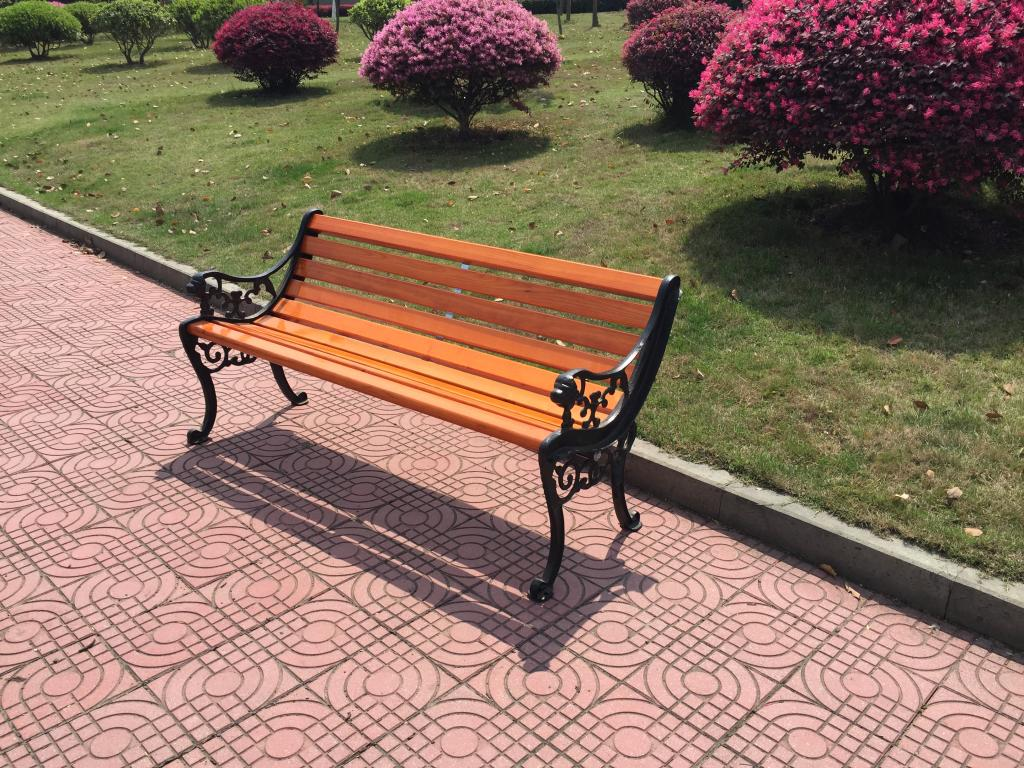 Park Benches Garden Chairs Outdoor Plaza Patio Cast Iron Wood Preservative Chair Leisure