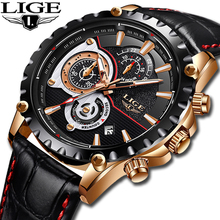 2019 LIGE New Fashion Sport Men Watches Men Business Waterproof Watch Date Chronograph Quartz Male Dress Clock Relogio Masculino new reef tiger designer sport watches men chronograph date calfskin nylon strap super luminous quartz watch relogio masculino