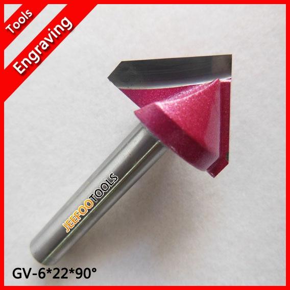 6 * 22 * 90 stopni V Groove Bity 3D Grawerowanie Frezy Carving Bity, Frez CNC Frez Narzędzia do cięcia drewna