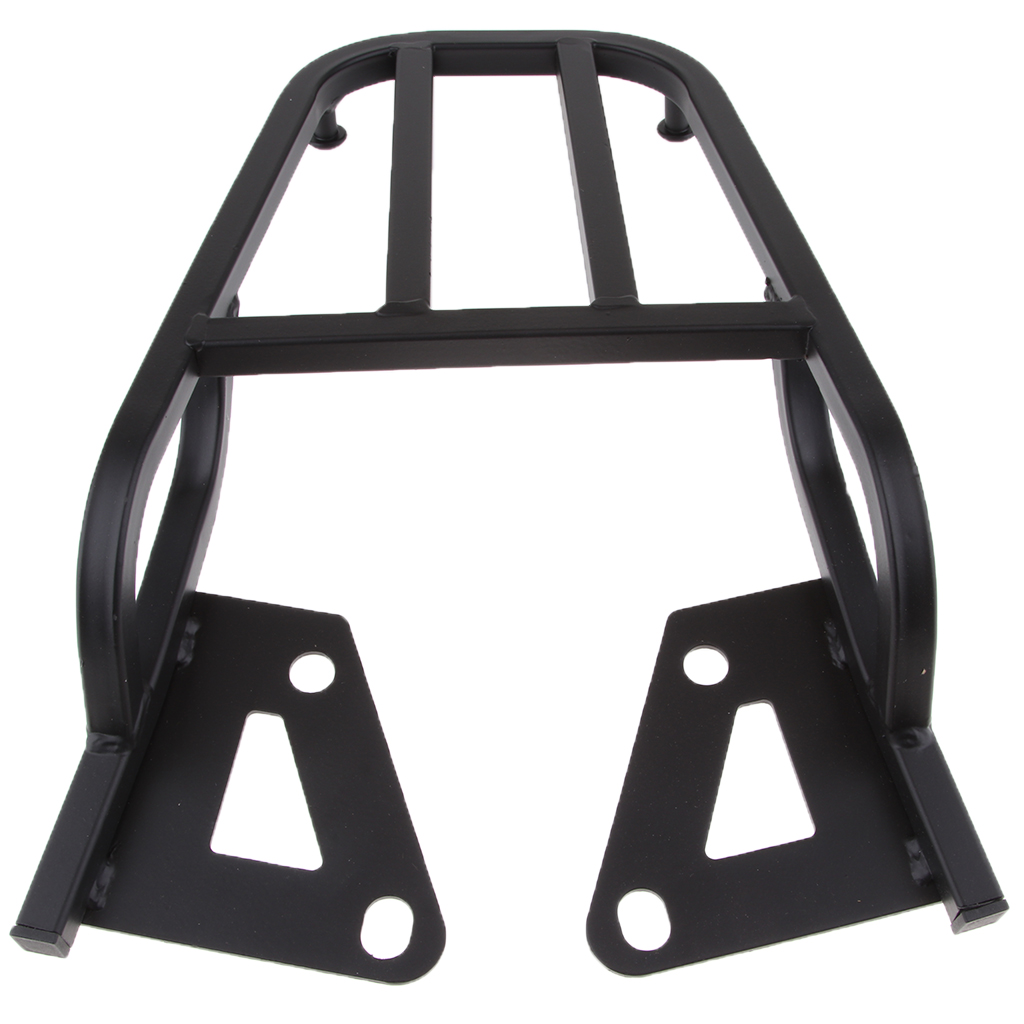 Motorcycle Black Carbon Steel Sissy Bar Backrest Luggage Rack Rear Carrier porte arrière transporteur Motor Accessories