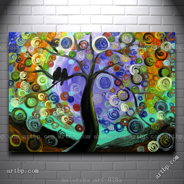 Still Of The Night Malorcka Acrylic Painting Tree Love