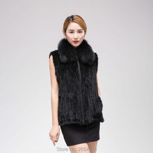 Real mink fox collar dress thickening increase L-5XL multi code optional fox fur mink wool clothes  Winter women's jacket