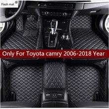Кожаный Автомобильный Коврик для toyota camry 2006 2014 2015