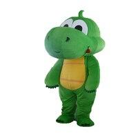 New Bulk Erba-verde Drago del costume della mascotte formato Adulto può essere personalizzato