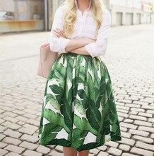 30- women vintage 50s green palm print puff swing midi skirt plus size 4xl  skirts a47b9f5e816e