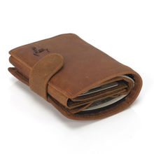 Stylish Genuine Leather Men's Wallet with Bull Themed Pattern