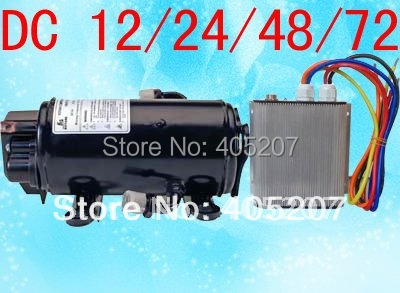 Brushless dc 24v EV Aircon compressor auto ac parts for truck sleeper 12v/24v cab a/c of truck electric-vehicle auto ac compressor used for volvo truck fh10 12 16 volvo fh12 16 95 8044 8176