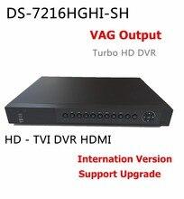 Free shipping International Version DS-7216HGHI-SH 4CH 720P Turbo HD DVR ,Support HD-TVI analog IP camera triple hybrid