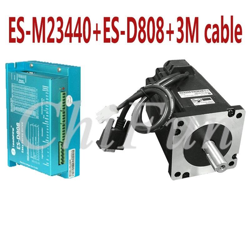 Original Leadshine Nema34 Hybrid Easy Servo 2 phase motor driver kits ES M23440 4 0NM motro
