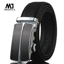 Medyla Новинка Для мужчин Автоматическая пряжка Брендовая Дизайнерская обувь кожаный ремень Бизнес ремень Для мужчин S на высокое качество и роскошь поясом