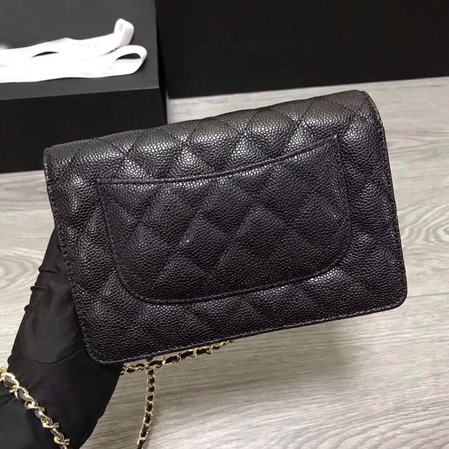 Luxury Brand Woc Plain Caviar Bag Classic Crossbody Handbags Women Top Quality Real Leather Designer Bags Small Chains Bag 2019