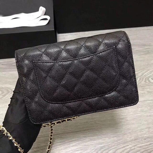 Marque de luxe Woc plaine Caviar sac classique bandoulière sacs à main femmes Top qualité en cuir véritable Designer sacs petites chaînes sac 2019