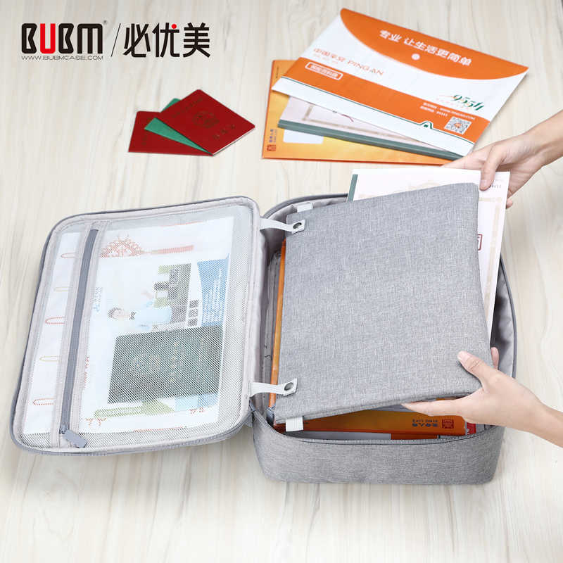 BUBM Waterproof Multi-Functional Document Filing Bags Portfolio Organizer, Credential Bag Diploma Storage File Pocket for Family