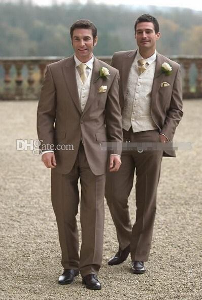 Newest One Button Groom Tuxedos Peak Lapel Best man Suit Dark ...