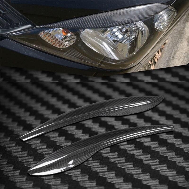 Couverture de Phare De Fiber de carbone Sourcils Paupières Garniture Autocollant Pour Honda Fit 2009-2012