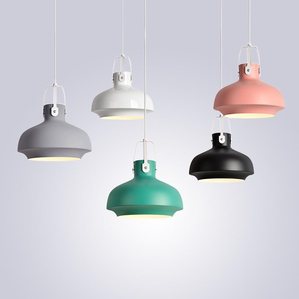 Colorful Pendant Lamps Modern Vintage Hanging Lamp Bar Restaurant Bedrooms E27 Art Pendant Lights Home Decoration Lighting