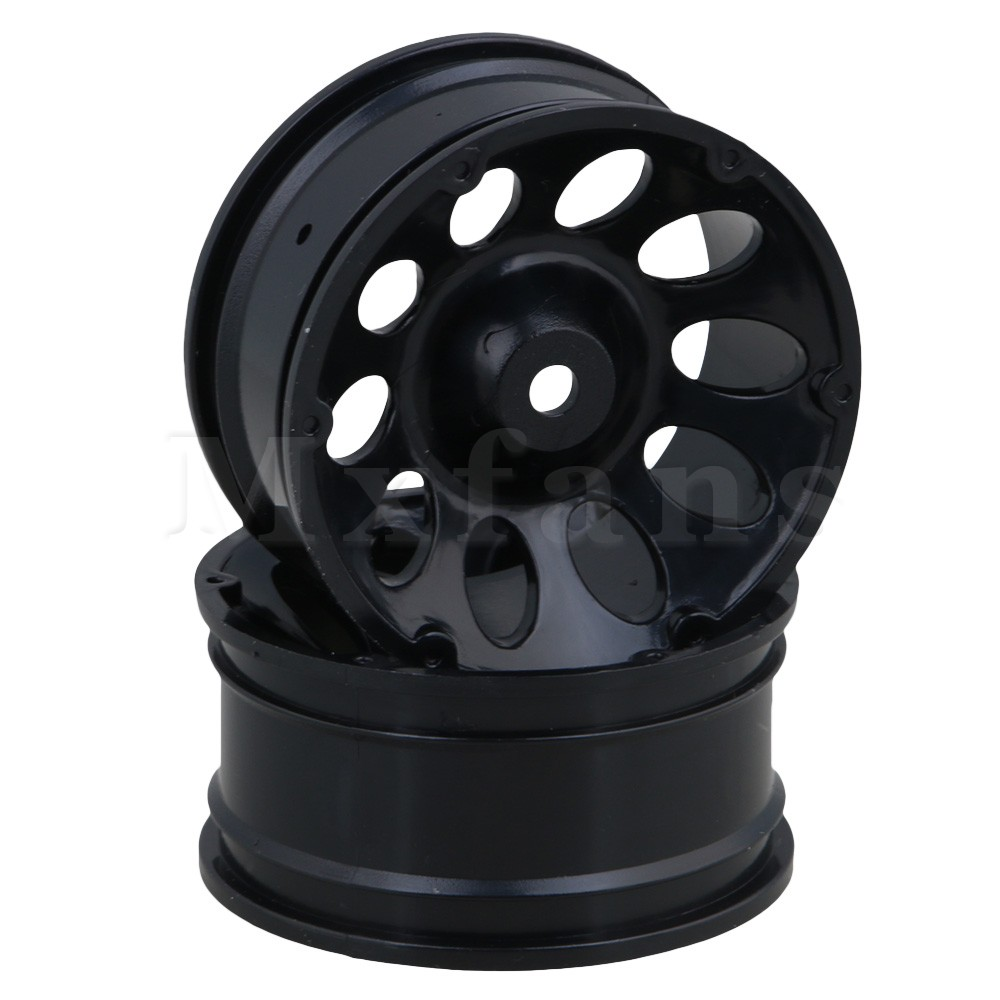 Mxfans Black Plastic 52mm Dia 10 Holes Climbing Wheel Rims for RC 1/10 On Road Racing Drift Car Pack of 4 racing wheel controller for nintendo 3ds black