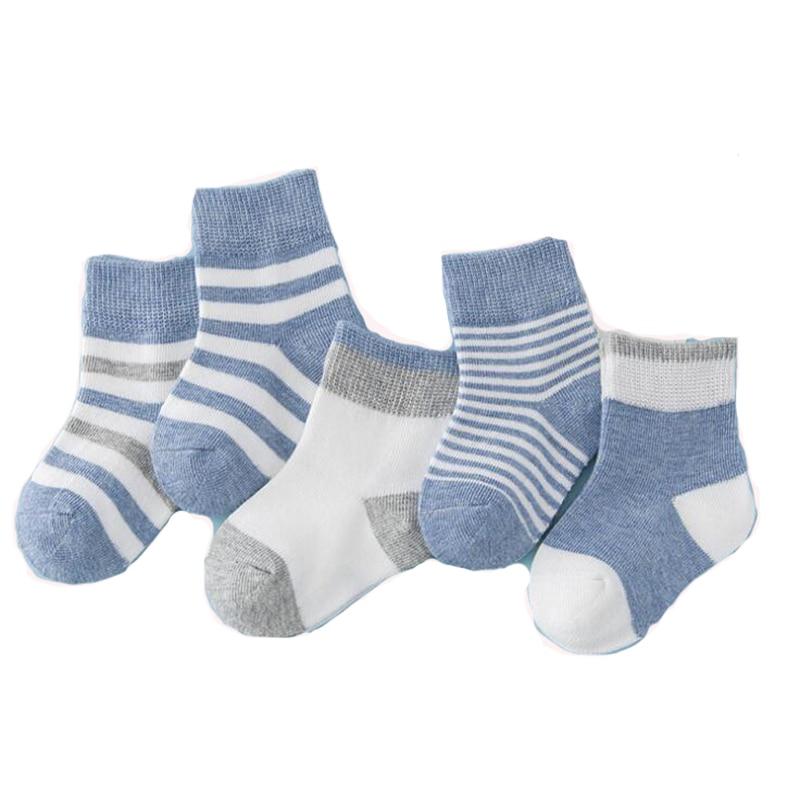 5 Pair/lot Baby Socks Neonatal autumn winter Mesh Cotton Kids Girls Boys Cute Baby Socks Baby Clothing Children Socks