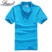 LOMAIYI размера плюс XS-3XL, фирменная новинка, Мужская рубашка поло, мужская белая высококачественная хлопковая майка с коротким рукавом, мужские рубашки поло, BM196