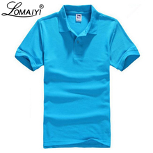 LOMAIYI Plus Size XS-3XL Brand New Men's Polo Shirt Men White High Quality Cotton Short Sleeve Jerseys Mens Polo Shirts,BM196